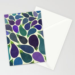 Eggplant's party Stationery Cards
