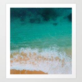 Algarve Beach From Above, Portugal Art Print