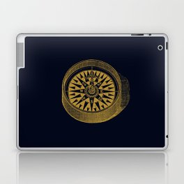 The golden compass I- maritime print with gold ornament Laptop & iPad Skin