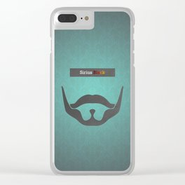 Sirius Black (Famous mustaches and beards) Clear iPhone Case