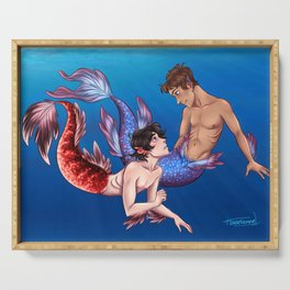 Keith and Lance mermaids Serving Tray