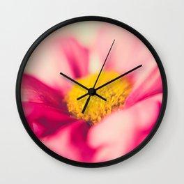 Flower Power (pink & yellow) Wall Clock