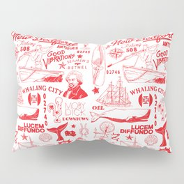 New Bedford Massachusetts Print Pillow Sham