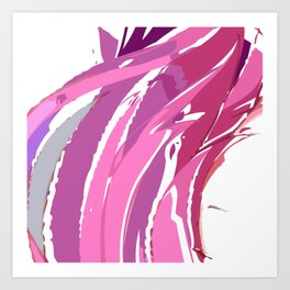 Purple Waves Art Print
