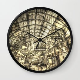 The Apple Market Covent Garden London Vintage Wall Clock