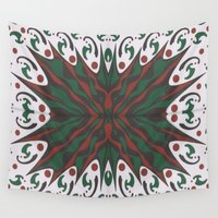 merry christmas Wall Tapestries featuring Merry Christmas by MissCrocodile63