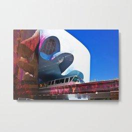 Seattle Center Monorail Metal Print