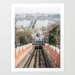 Funicular. Art Print