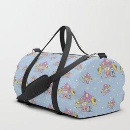 Whimsical Mushroom House Duffle Bag