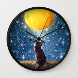 A Yarn of Moon Wall Clock
