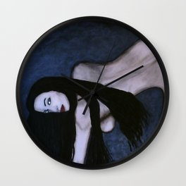 Sensual Dark Beauty Wall Clock
