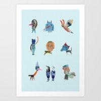 Happy friends Art Print