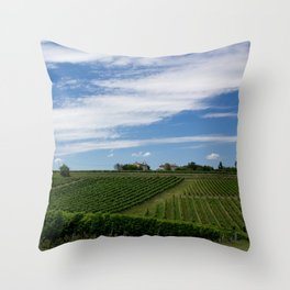 wine and its country Throw Pillow