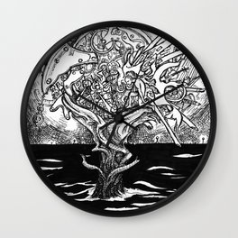 Islands of Solitude Wall Clock