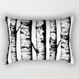 Birch Pattern Large Rectangular Pillow