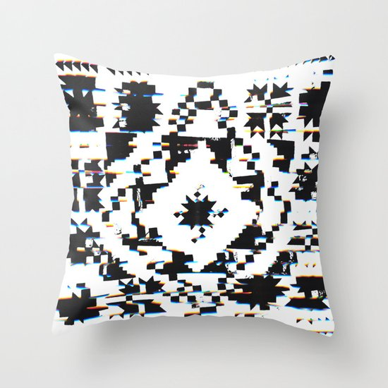 Throw Pillow Quilt Pattern : Twisted Quilt Throw Pillow by Ali GULEC Society6