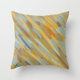 yellow blue and brown abstract background Throw Pillow