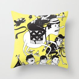 Race Against Time Throw Pillow