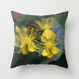 Copenhagen Yellow Throw Pillow