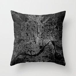 minneapolis map Throw Pillow