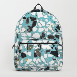 Terrazzo of 80's blue Backpack