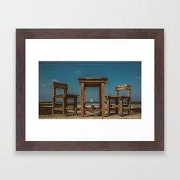 Lighthouse Cafe | Jeju Framed Art Print