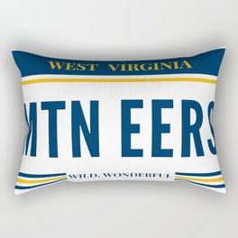 West Virginia License Plate Rectangular Pillow