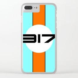 917 Gulf Racing Design Clear iPhone Case