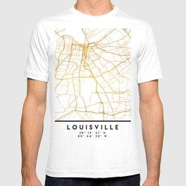 LOUISVILLE KENTUCKY CITY STREET MAP ART T-shirt