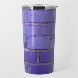 Violet Bricks Wall Texture Travel Mug