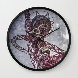 The Arcelormittal Orbit Art Wall Clock
