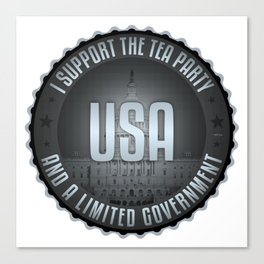 I Support The Tea Party Canvas Print