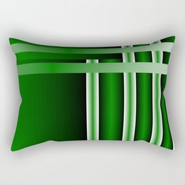 stripe green background with bright Rectangular Pillow