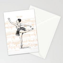 Ballerina print Stationery Cards
