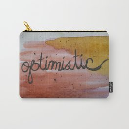 optimistic watercolor print Carry-All Pouch