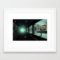 subway Framed Art Prints featuring Subway by Jean Walter