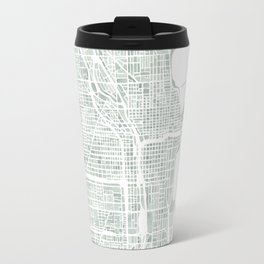 Map Chicago city watercolor map Travel Mug
