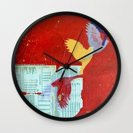 Lift by Nadia J Art Wall Clock
