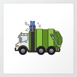 Recycle Truck Art Print