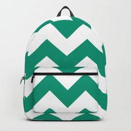 Emerald Chevron Backpack
