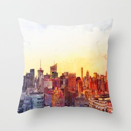 Sunshine in NYC Throw Pillow