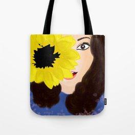 Chica girasol Tote Bag