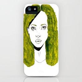 GIRL WITH CURLY KAKI HAIR  iPhone Case