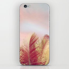 Pink Palms in the Breeze iPhone Skin