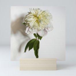 Yellow Peony Flower Mini Art Print