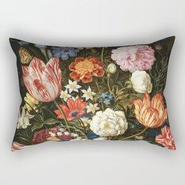 Vintage Floral Art Rectangular Pillow