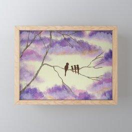 A Mothers Blessings, Birds in Tree Framed Mini Art Print