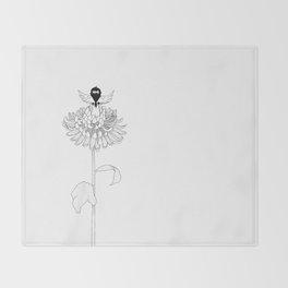 Chrysanthemum Moments Throw Blanket