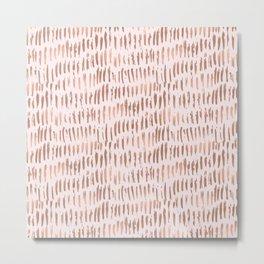Blush Pink Rose Gold Abstract Metal Print