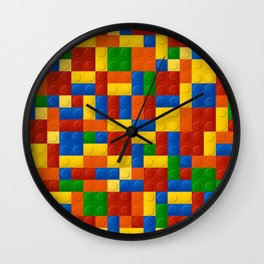 Plastic pieces pattern Wall Clock